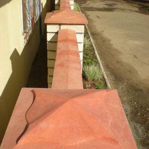Крышка на забор: 400*250*50 мм